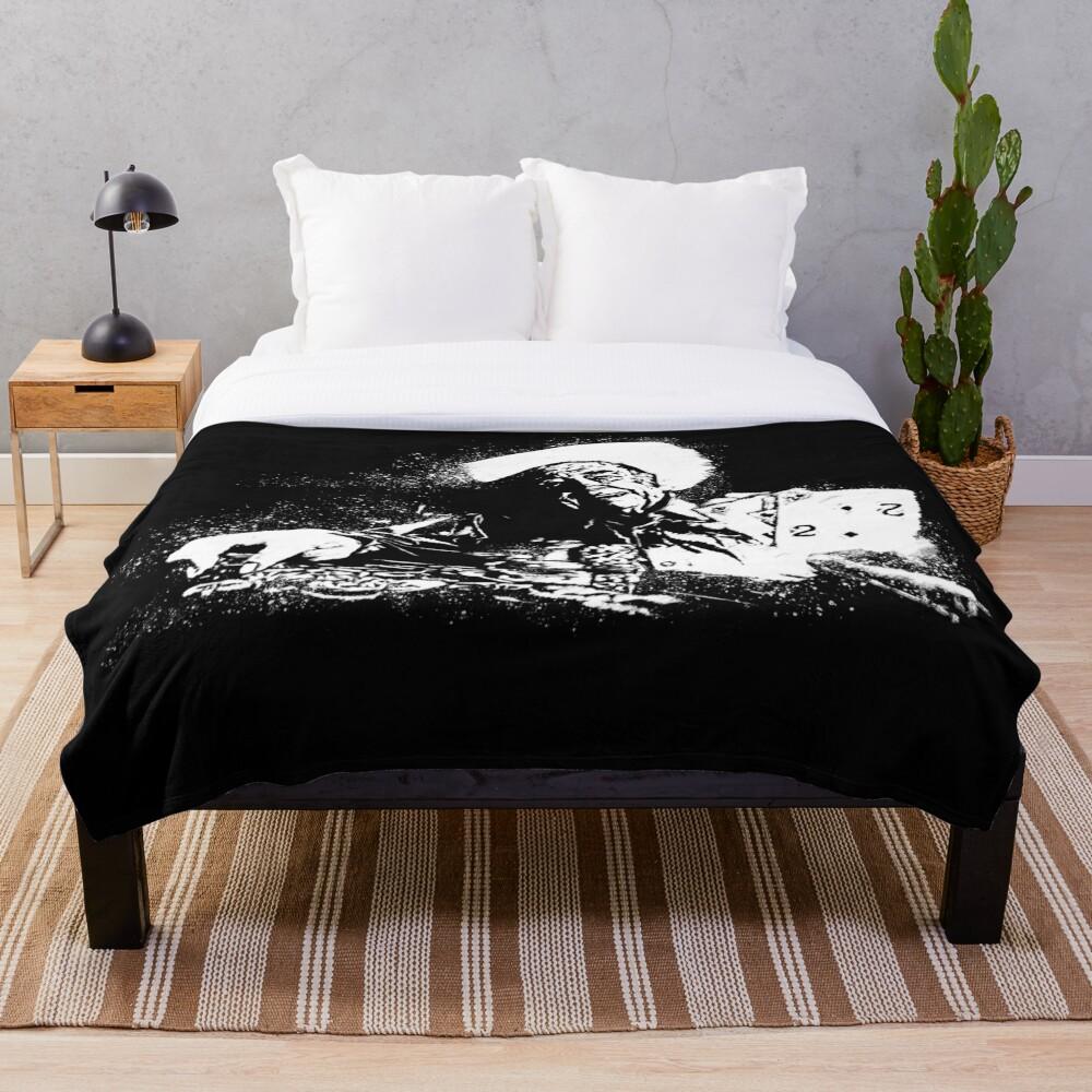Doyle Brunson Painting Throw Blanket