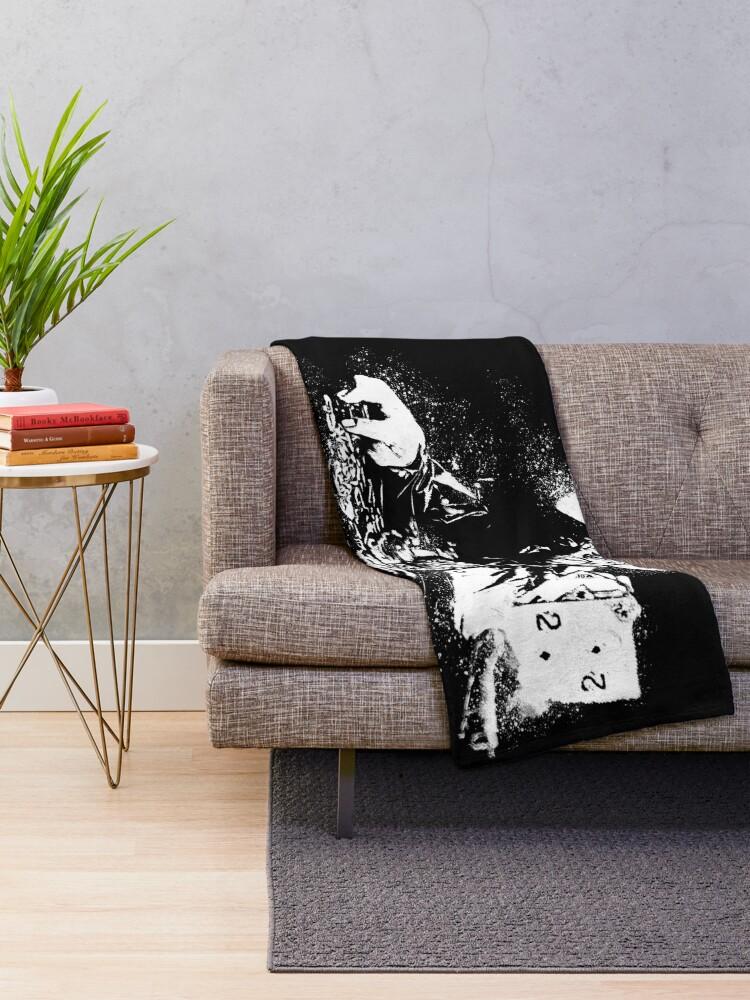 Alternate view of Doyle Brunson Painting Throw Blanket