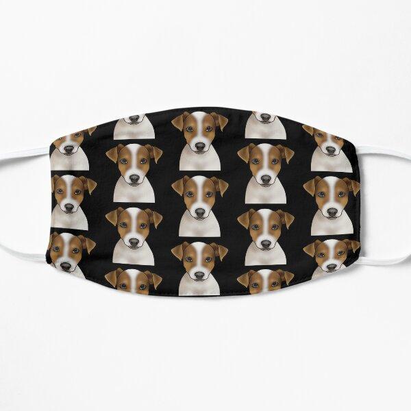 Jack Russell Terrier Dog Portrait - Pattern - Black Flat Mask
