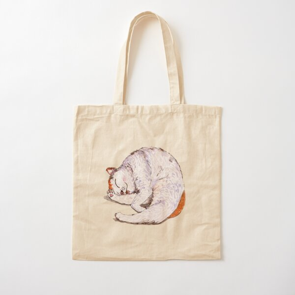 Tommy the Furball is Sleeping Cotton Tote Bag
