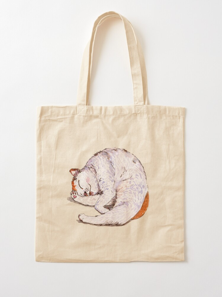 Alternate view of Tommy the Furball is Sleeping Tote Bag