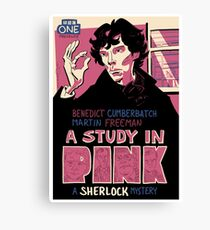 Vintage Poster - A Study In Pink Canvas Print
