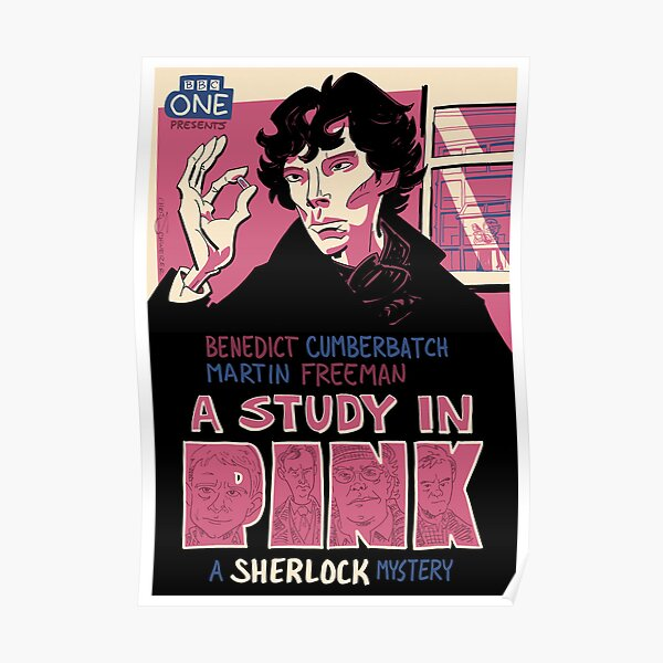 Vintage Poster - A Study In Pink Poster