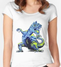 Old Blue Dinosaur Women's Fitted Scoop T-Shirt