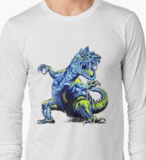 Old Blue Dinosaur Long Sleeve T-Shirt