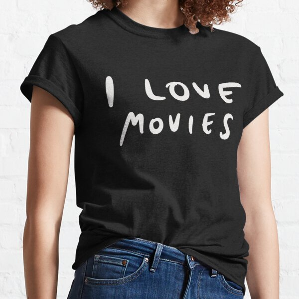 I Love Movies - Minimal Writing Classic T-Shirt