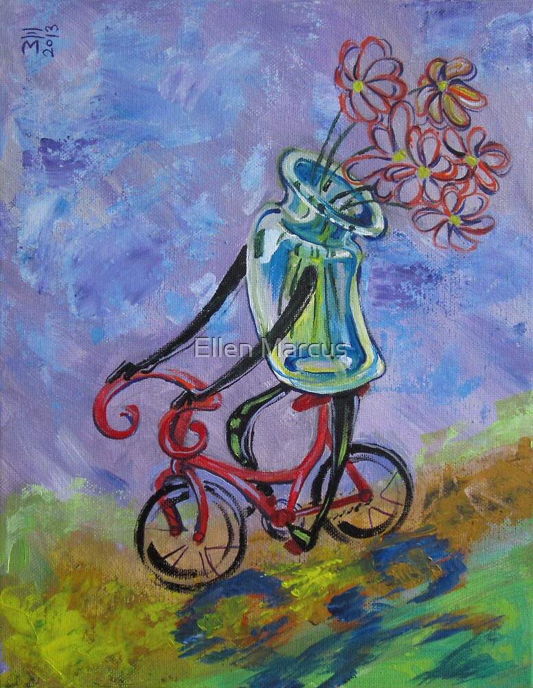 Jar on bike by Ellen Marcus