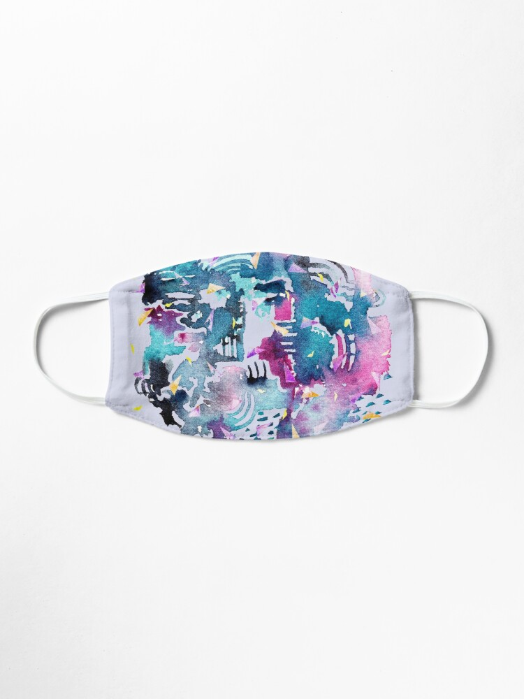 Alternate view of Night Sky Watercolor Pattern Mask