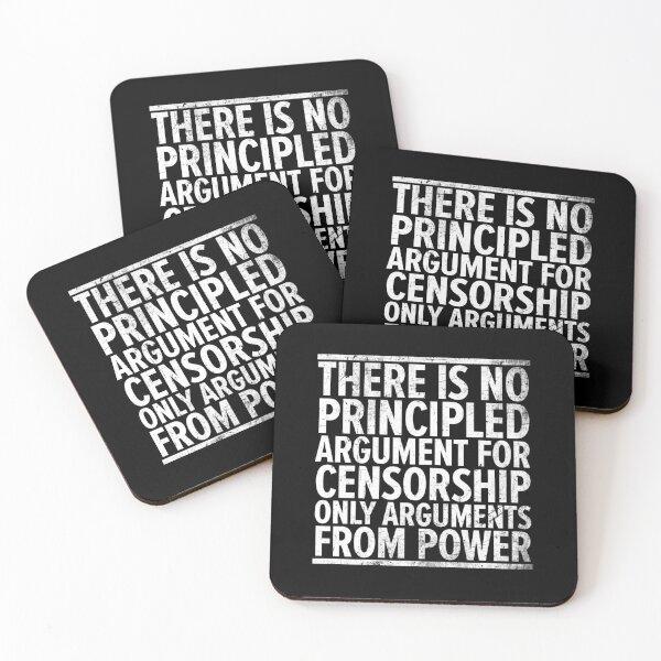 Censorship v1 Coasters (Set of 4)