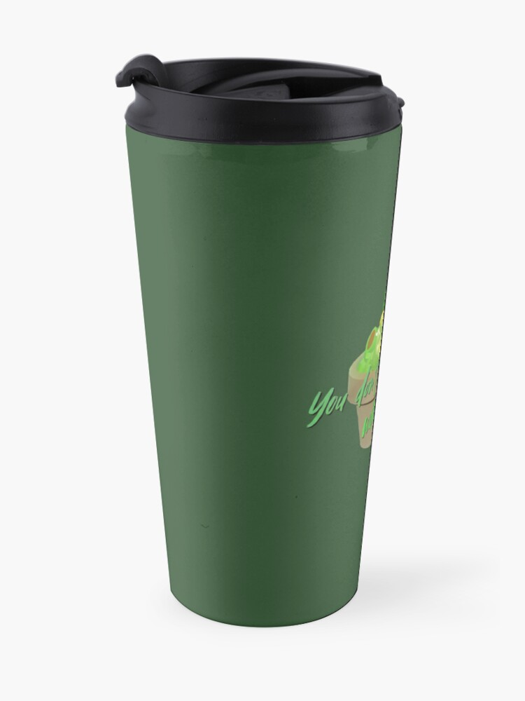 Alternate view of You Don't Make Friends With Salad - Simpsons Design Travel Mug