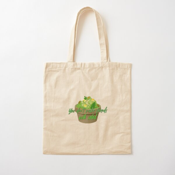 You Don't Make Friends With Salad - Simpsons Design Cotton Tote Bag