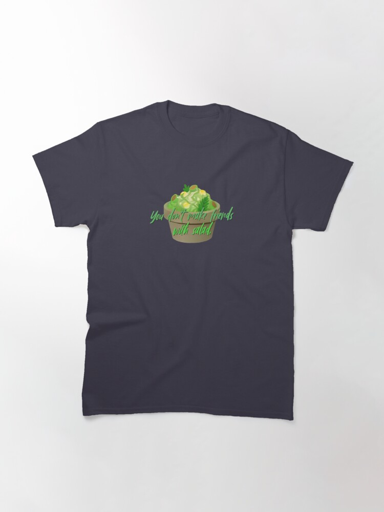 Alternate view of You Don't Make Friends With Salad - Simpsons Design Classic T-Shirt
