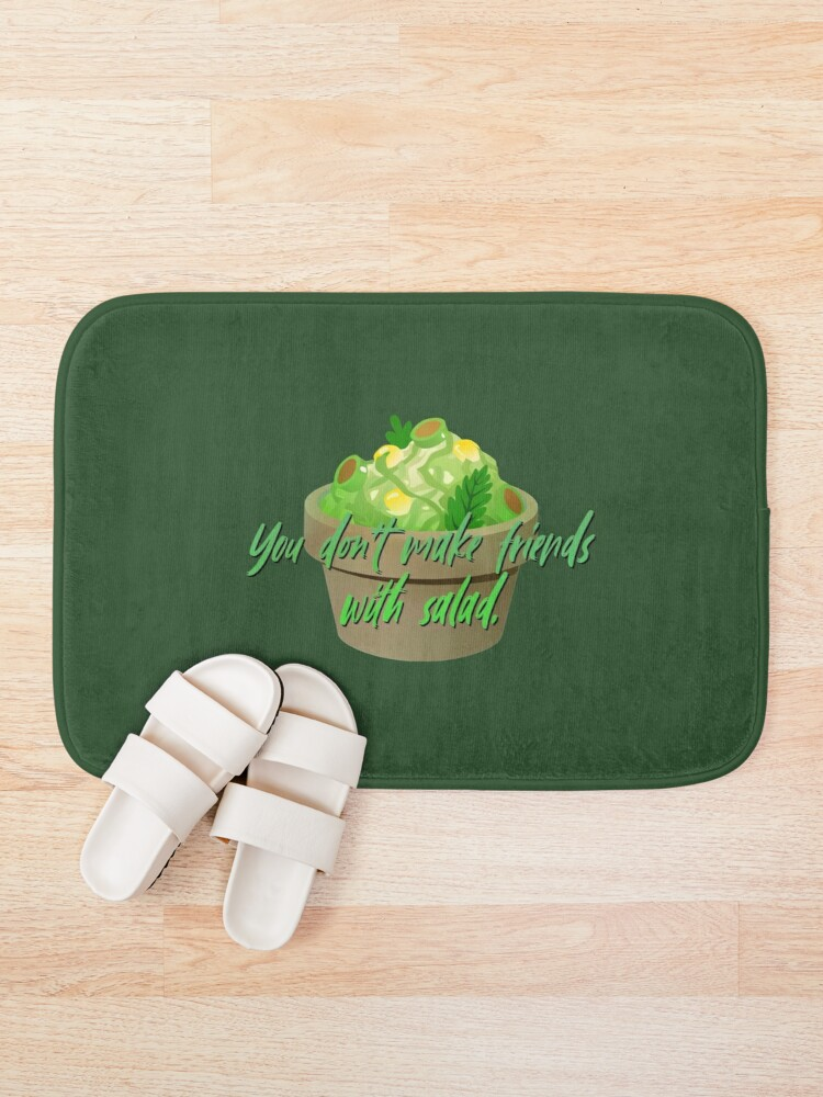 Alternate view of You Don't Make Friends With Salad - Simpsons Design Bath Mat