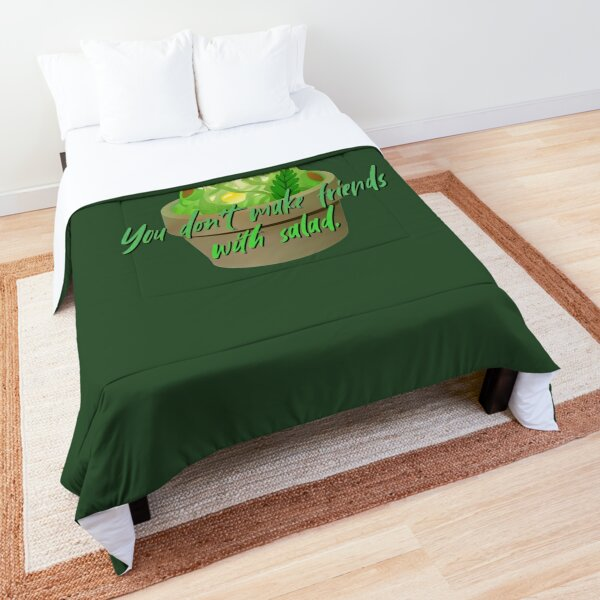 You Don't Make Friends With Salad - Simpsons Design Comforter