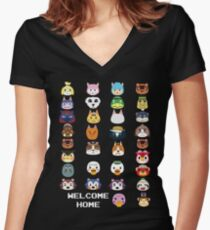 Welcome Home Women's Fitted V-Neck T-Shirt