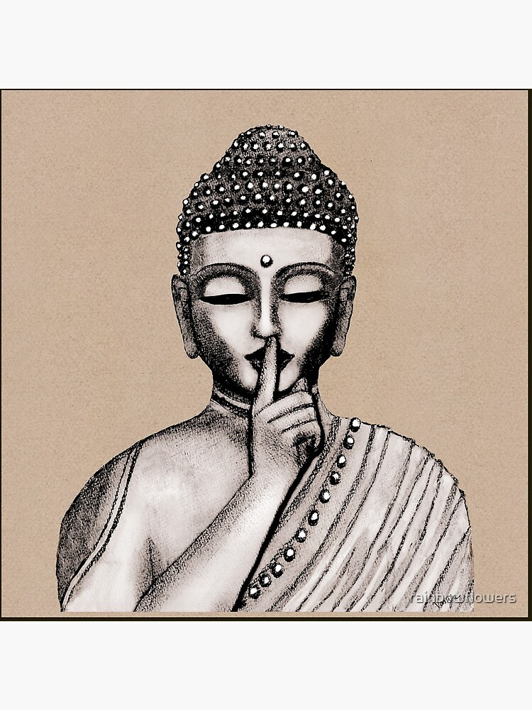 Shh ... do not disturb - Buddha - New by rainbowflowers