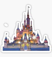 Aquarell Schloss Sticker