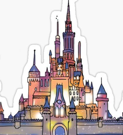 Watercolor Castle Sticker
