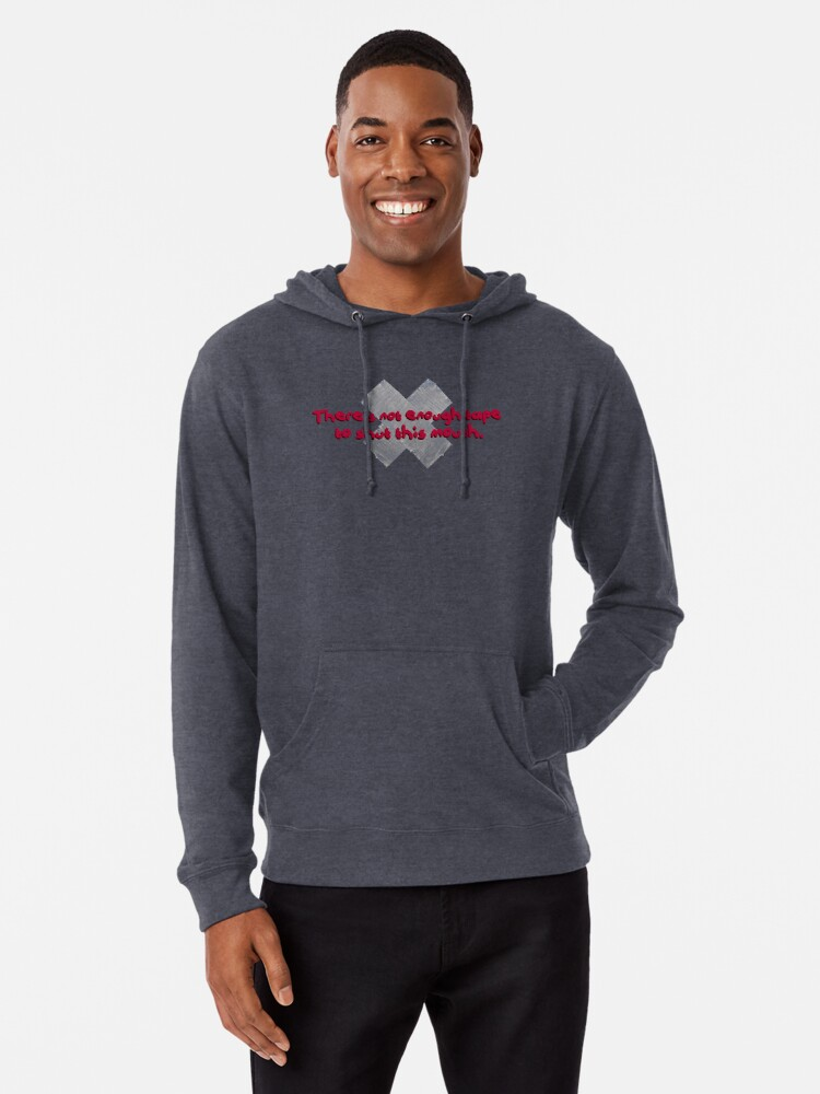 Alternate view of Not Enough Tape To Shut This Mouth - P!nk Design Lightweight Hoodie