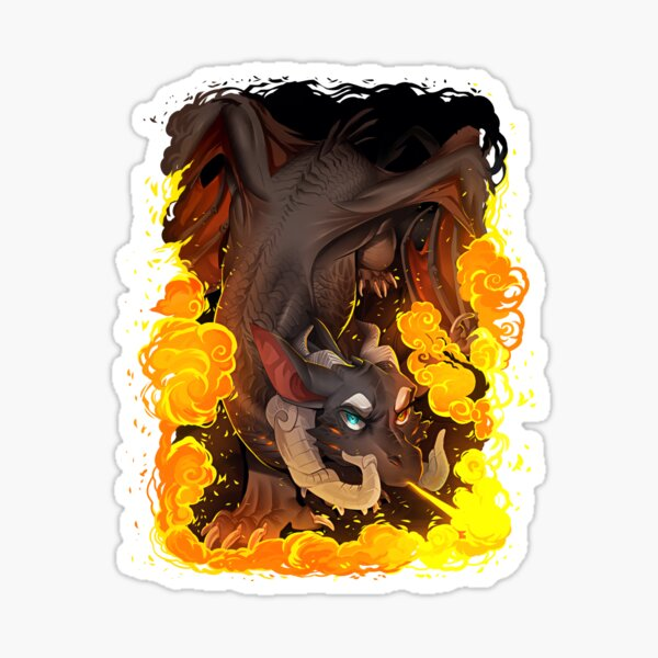 Flame on Sticker
