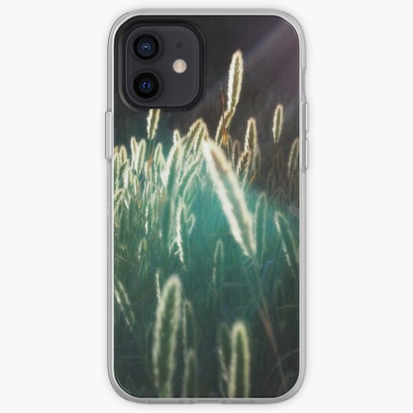 cattail reeds at sunset, summer at the river iPhone Soft Case