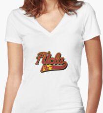 FUCLA Logo Women's Fitted V-Neck T-Shirt