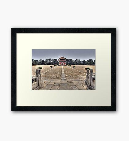 Eastern Qing Tombs Framed Print