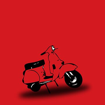 red vespa px by johnvikias