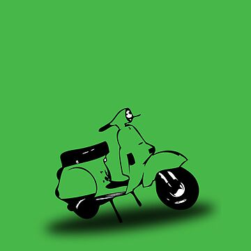 a green vespa px by johnvikias