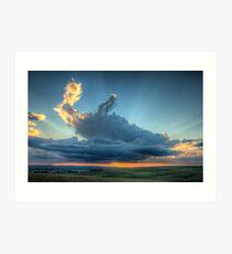 Sunset In The Berg Art Print