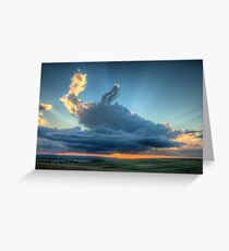 Sunset In The Berg Greeting Card