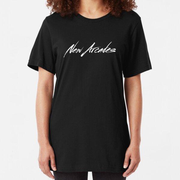 New Arcades - Logo (white text) Slim Fit T-Shirt