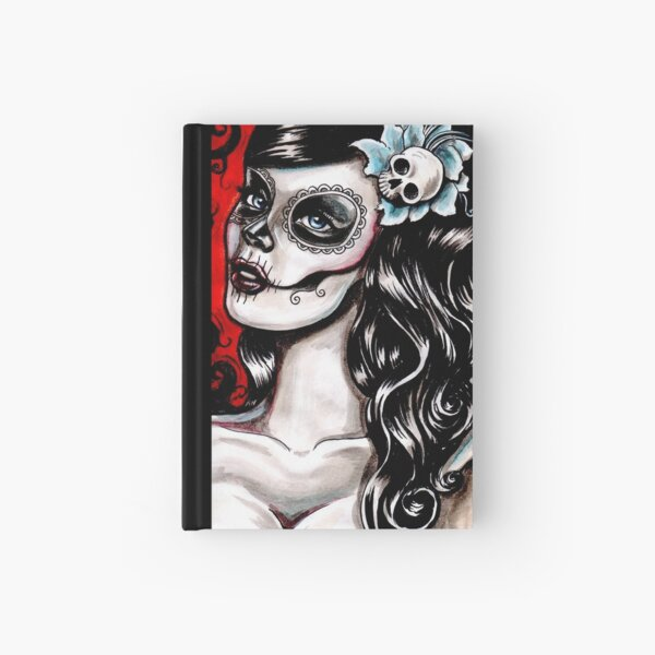 Day of the dead pinup tattoo Hardcover Journal