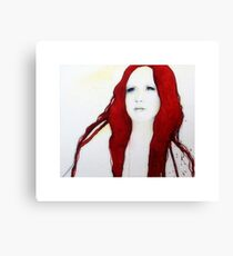 Ivory Flame Canvas Print