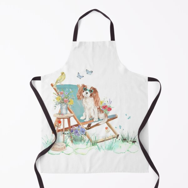 A Pooch For You - Cavalier King Charles Spaniel 'Just Chillin' Apron