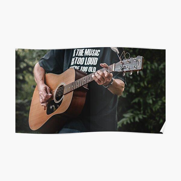 Mann spielt Martin Gitarre Poster