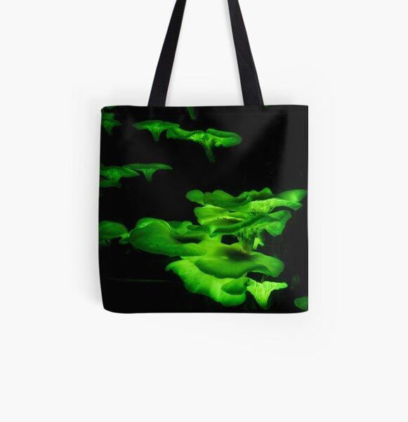 Glowing Fungi 1 All Over Print Tote Bag