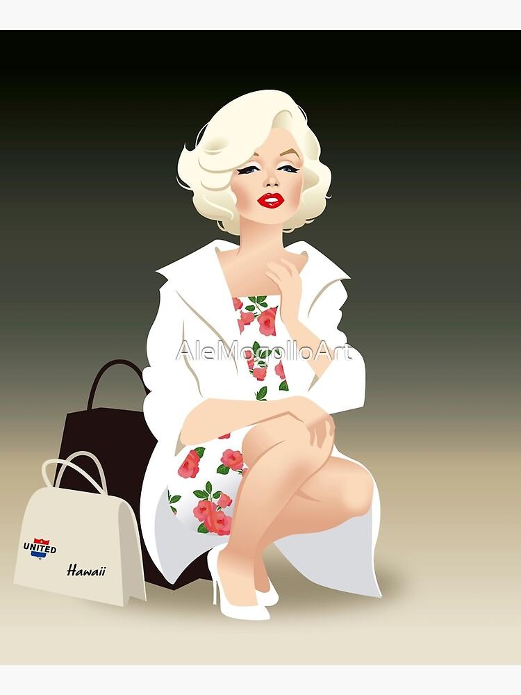 Marilyn white coat by AleMogolloArt
