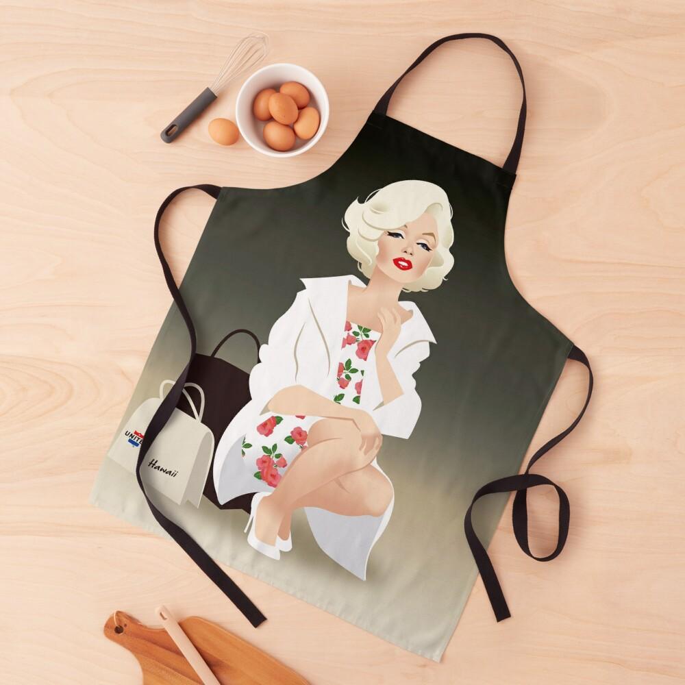 Marilyn white coat Apron