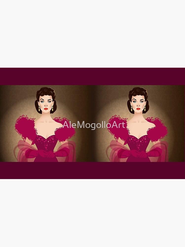 Burgundy dress by AleMogolloArt