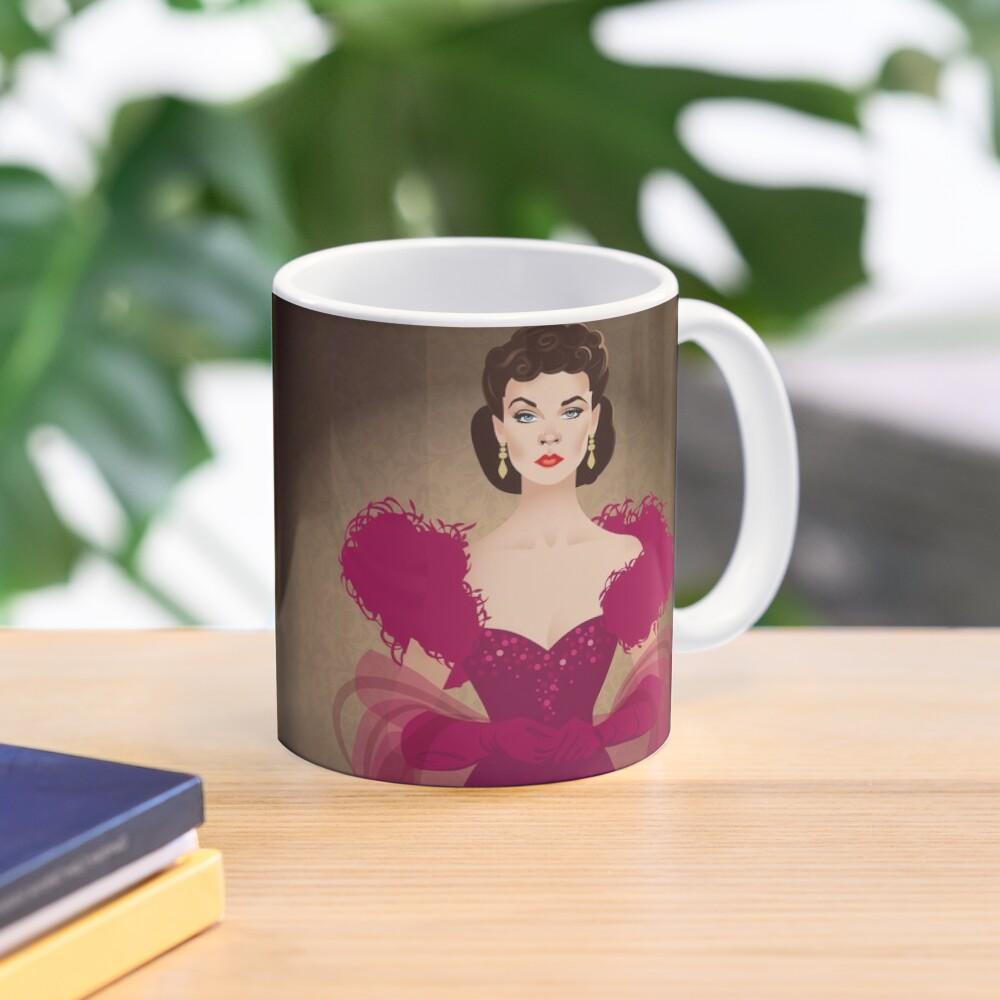 Burgundy dress Mug