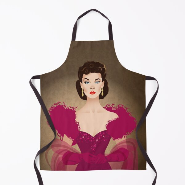 Burgundy dress Apron