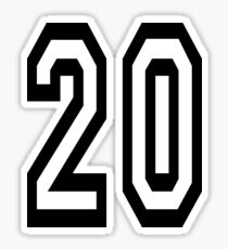 20, TEAM SPORTS, NUMBER 20, TWENTY, TWENTIETH, Competition,  Sticker