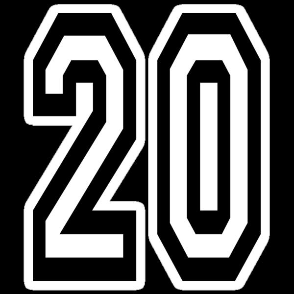 Quot 20 Team Sports Number 20 Twenty Twentieth