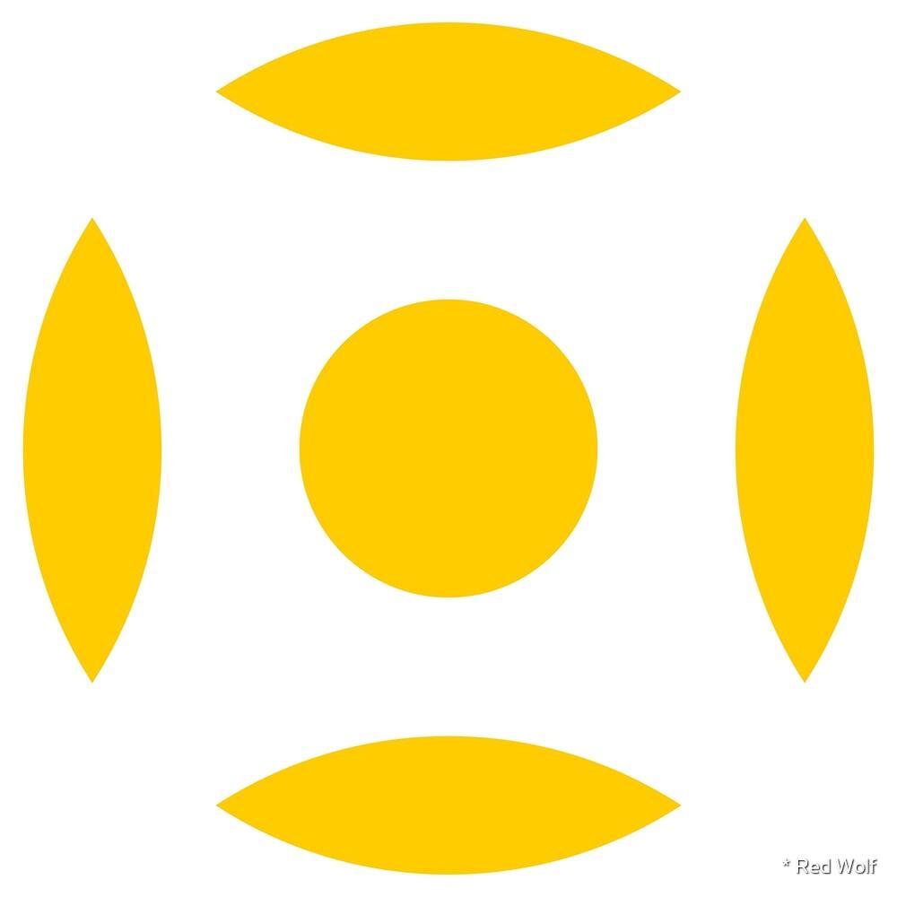 Geometric Pattern: Intersect Circle: White/Yellow by * Red Wolf