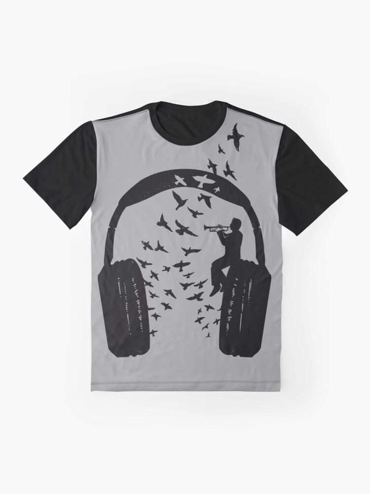 Alternate view of Headphone - Trumpet Graphic T-Shirt
