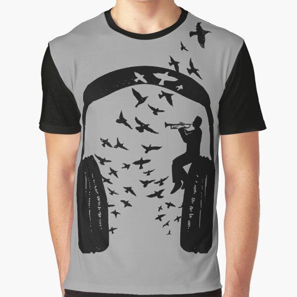 Headphone - Trumpet Graphic T-Shirt