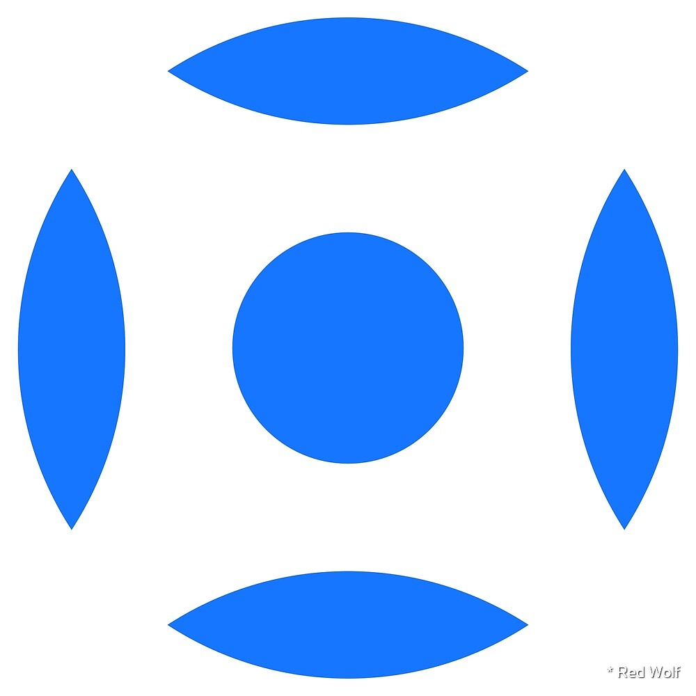 Geometric Pattern: Intersect Circle: White/Blue by * Red Wolf