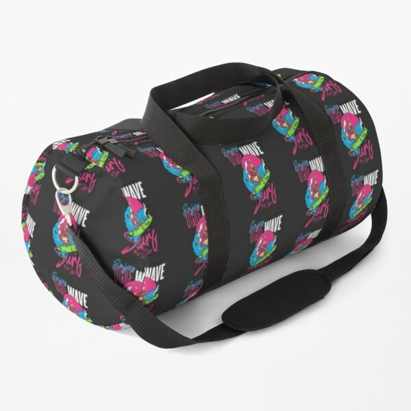 Skull Surfing Summer Tropical Seasons Pop Art Vector Duffle Bag
