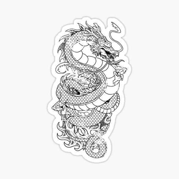 Asian Dragon  Sticker